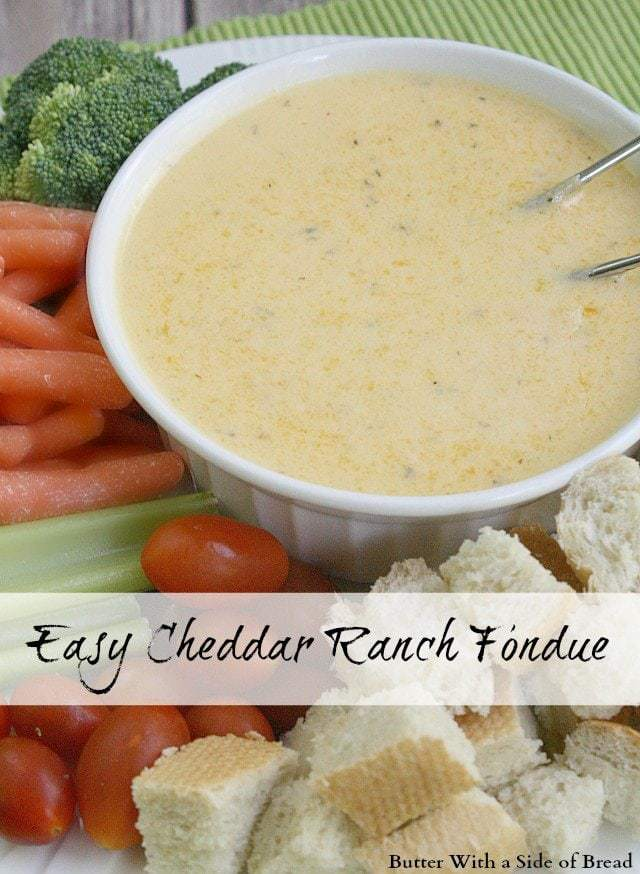 Easy Cheddar Ranch Fondue - Butter With a Side of Bread