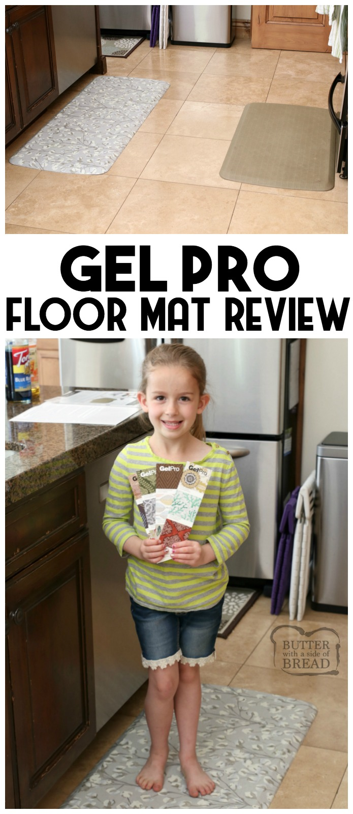 Honest GelPro Elite Floor Mat review, from a busy mom of 5. Why GelPro floor mats are the only and last floor mats you'll ever buy! GelPro floor mats are insanely comfortable, stay-put, durable and so pretty!
