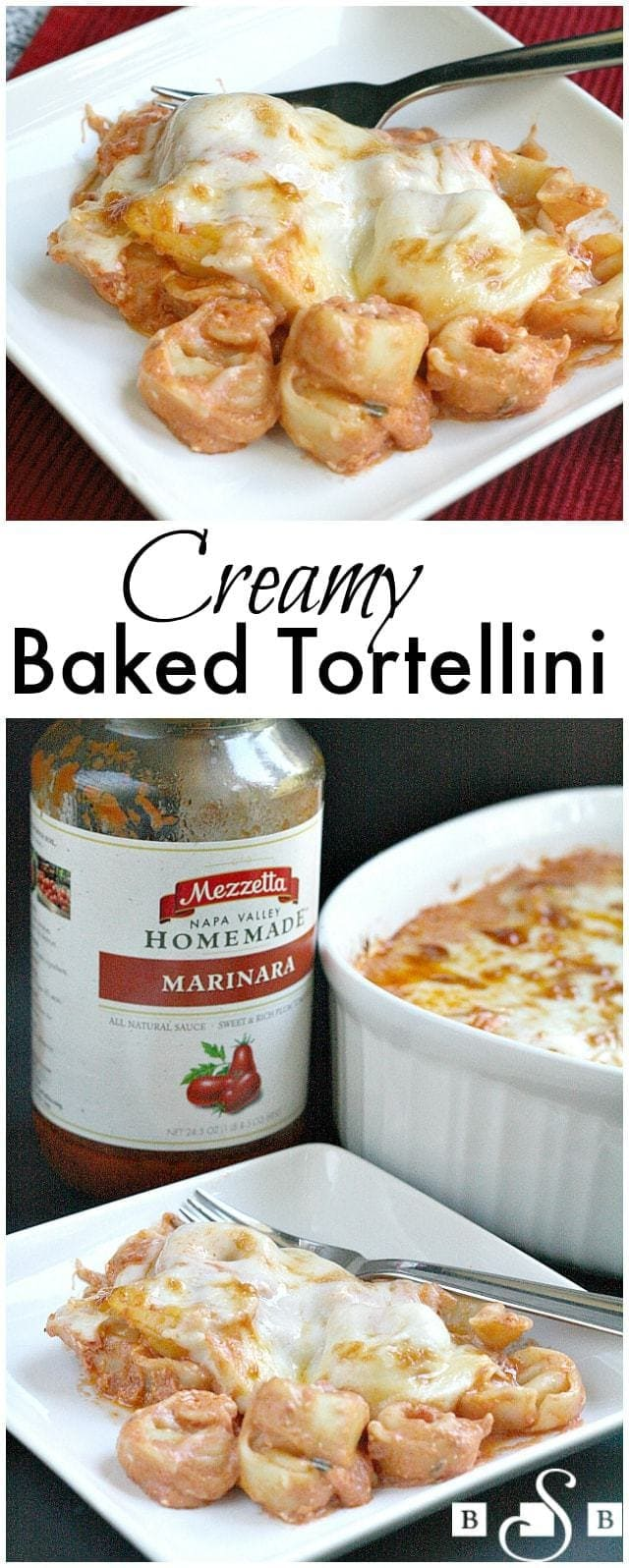 Creamy Baked Tortellini -Butter With a Side of Bread