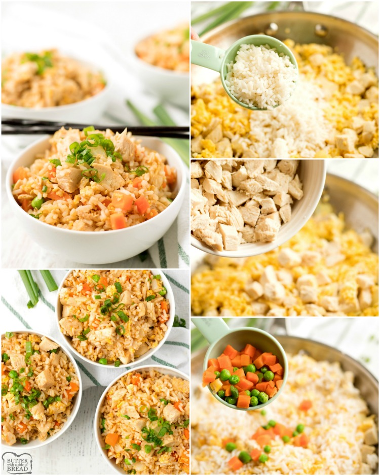 How to make fried rice recipe with chicken