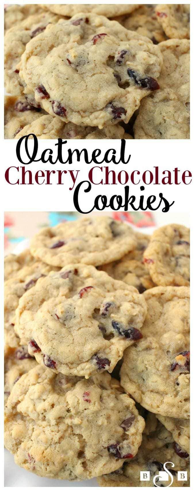 Oatmeal Cherry Chocolate Cookies - Butter With A Side of Bread