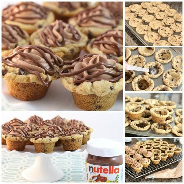 Nutella Mousse Cookie Cups - Butter With A Side of Bread