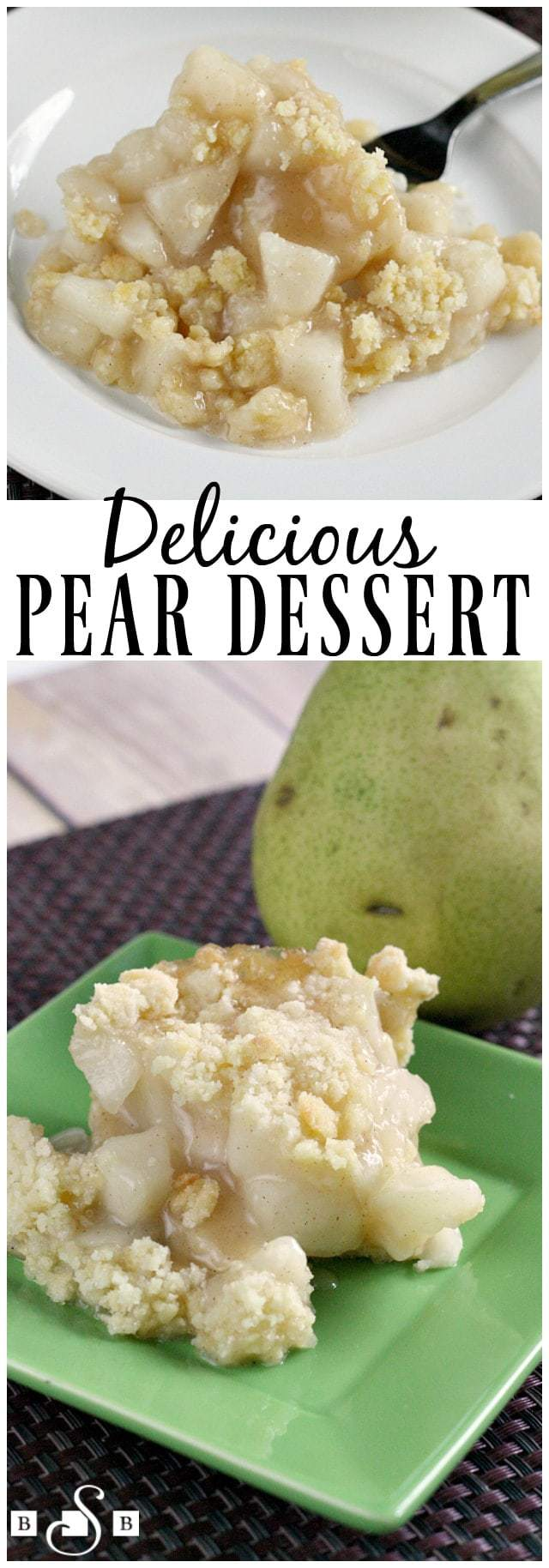 Delicious Pear Dessert - Butter With a Side of Bread