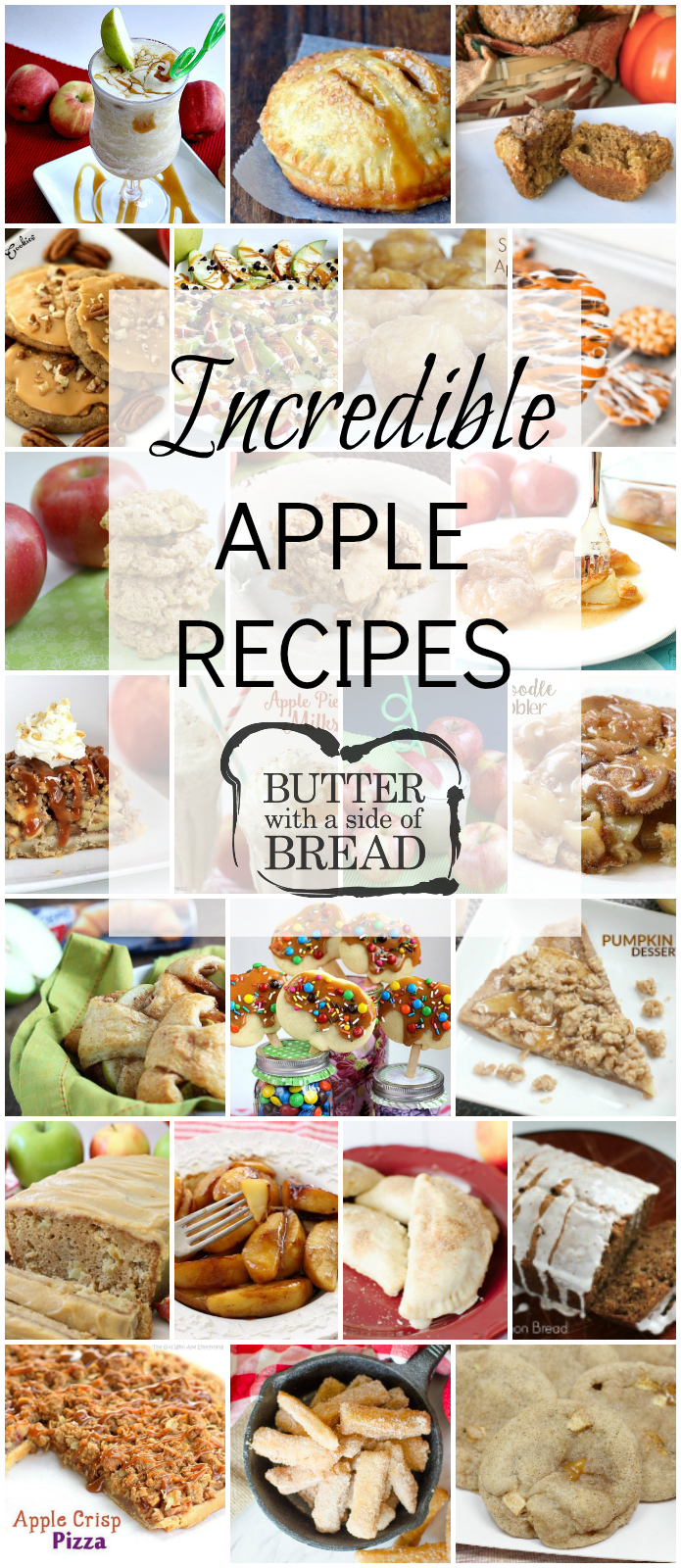 Most Popular Apple Recipes featuring apple desserts, apple snacks, cookies, breads and more. Easy apple recipes for fall baking or any time of the year.
