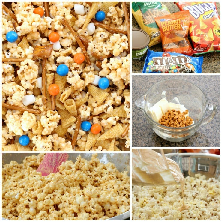 how to make Game Day Popcorn Mix
