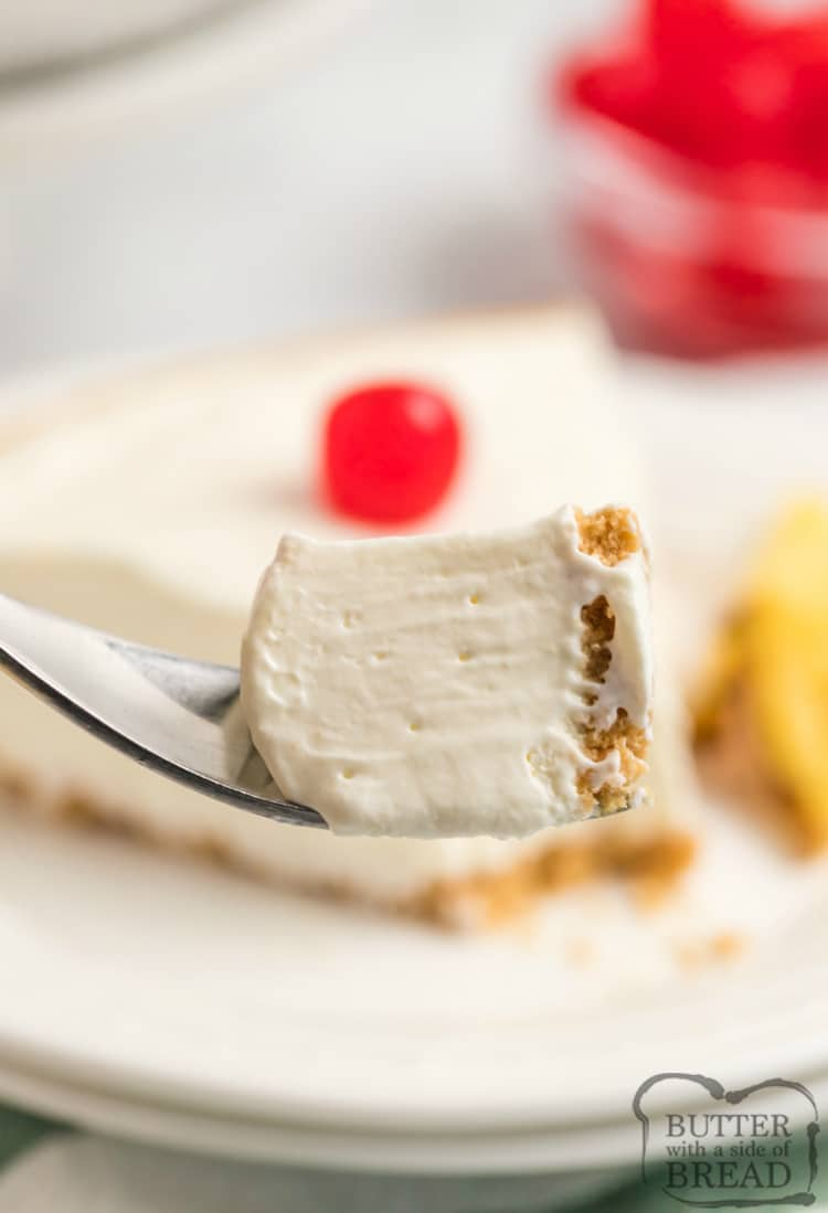 Bite of easy Pina Colada Pie recipe