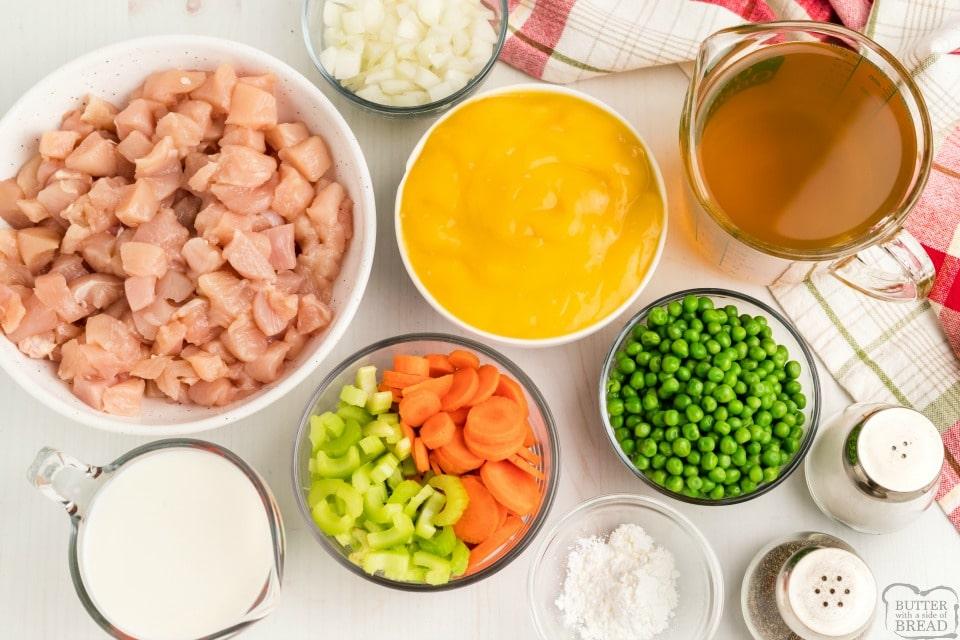 Chicken and Dumplings recipe ingredients