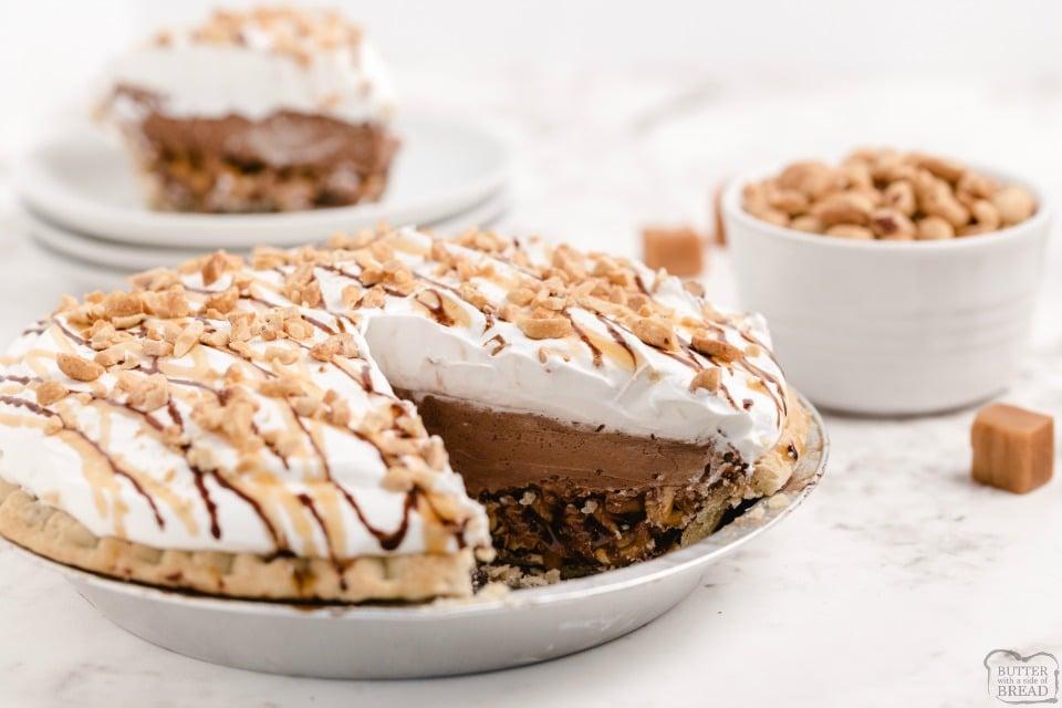 Chocolate Cream Turtle Pie recipe
