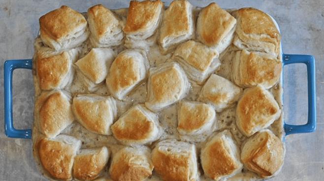 Biscuits and gravy casserole breakfast recipe