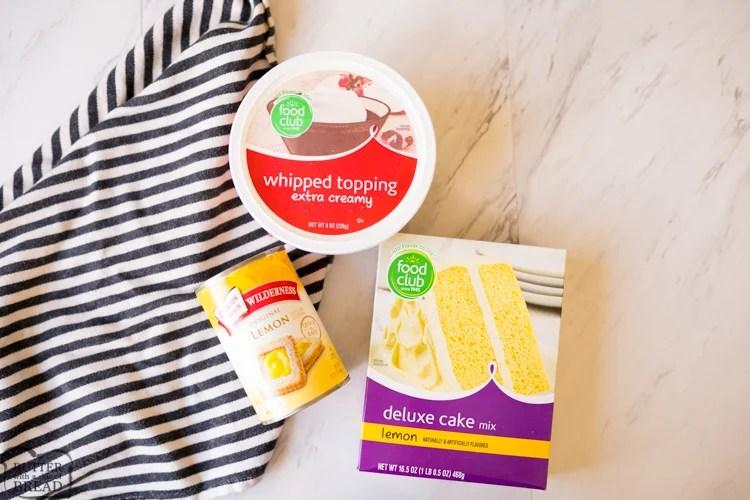 ingredients for lemon poke cake