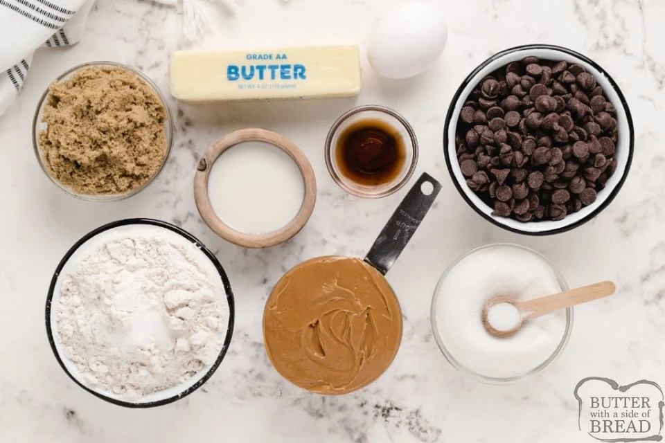 Ingredients in Peanut Butter Chocolate Chip cookies