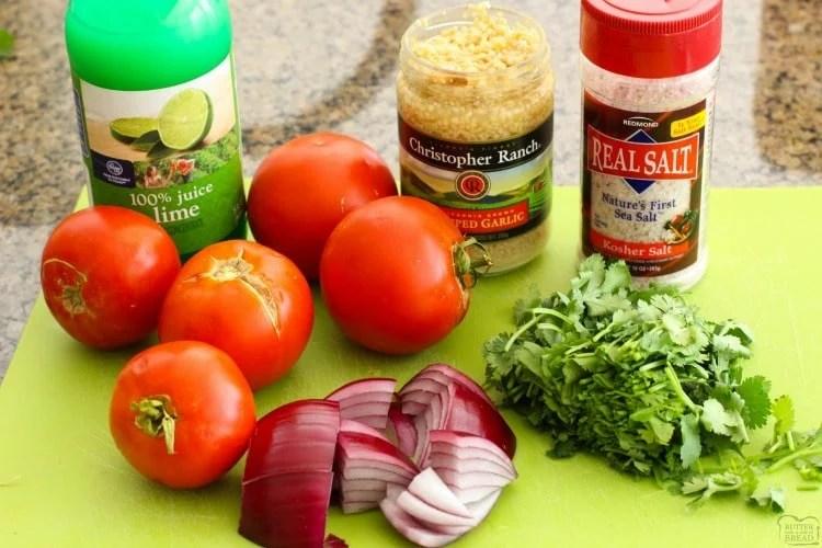 homemade salsa ingredients