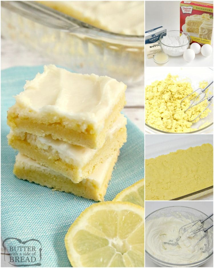 step by step instructions on how to make lemon cheesecake bars