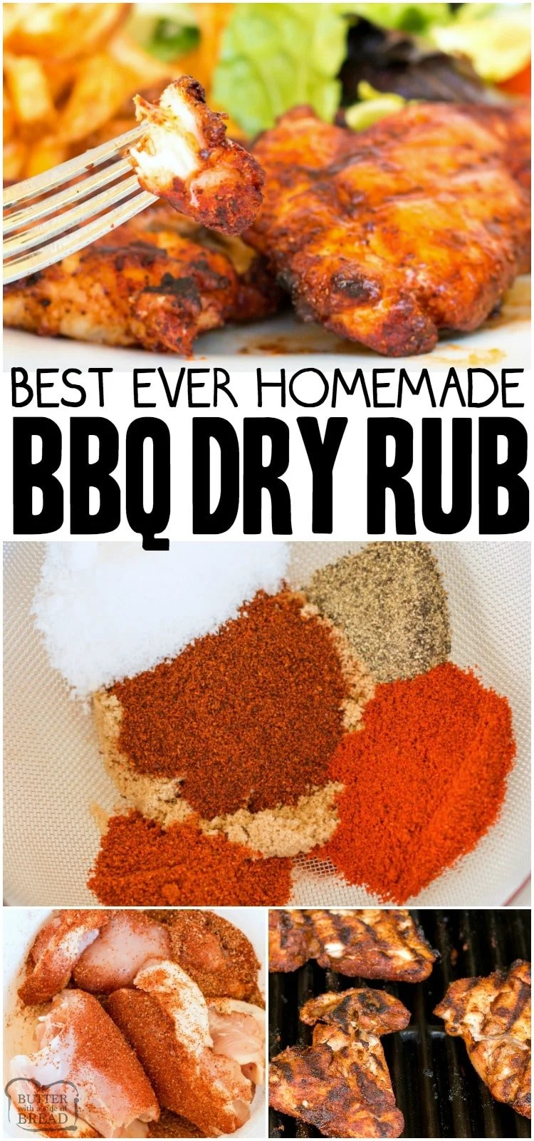 Best BBQ Dry Rub that can be used on chicken, beef, pork and fish.  BBQ rub recipe that is simple to make and adds a great flavor to grilled meats.