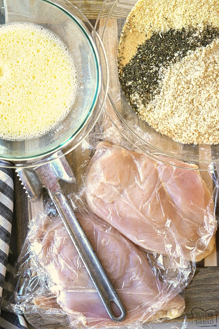 ingredients for parmesan chicken recipe