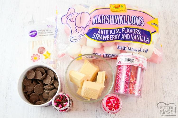 Easy Valentines Marshmallow Pops