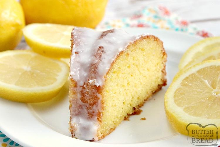 Slice of lemon cake recipe