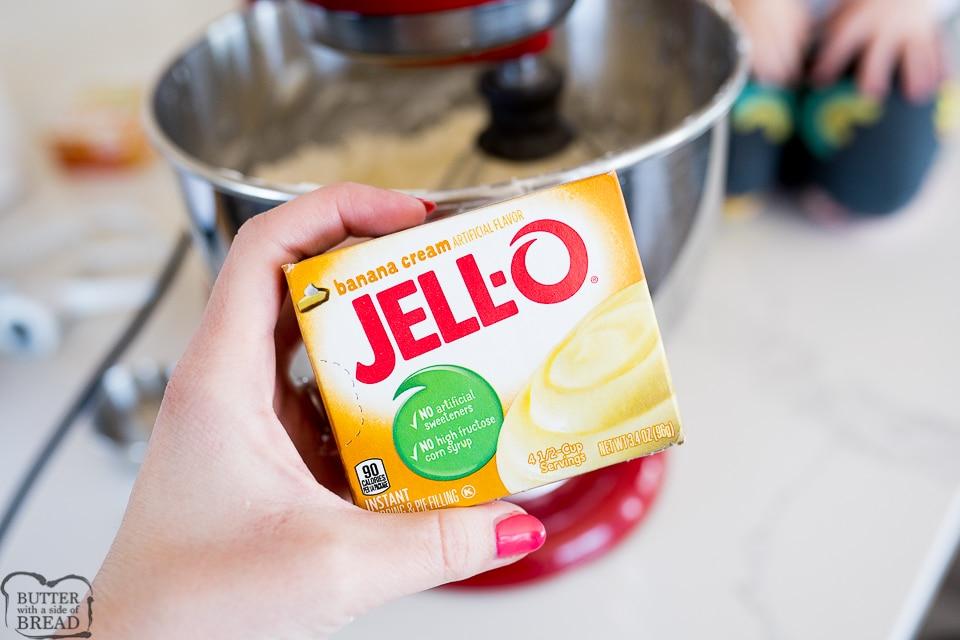 banana cream pudding as and ingredient in the banana cream cheesecake
