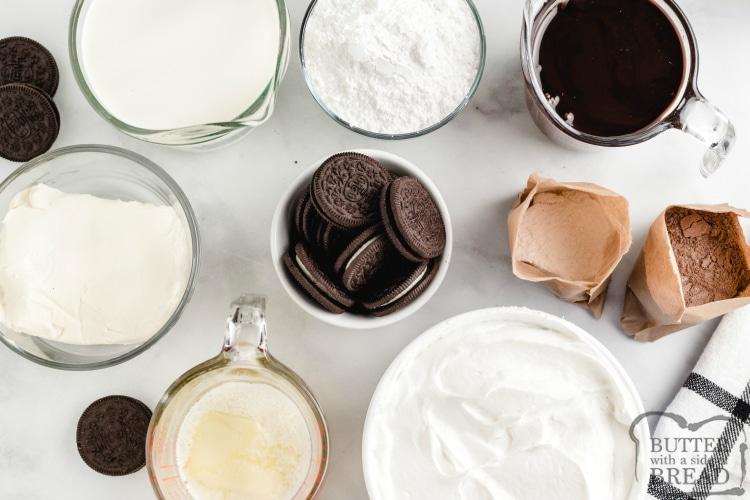 Ingredients in oreo delight