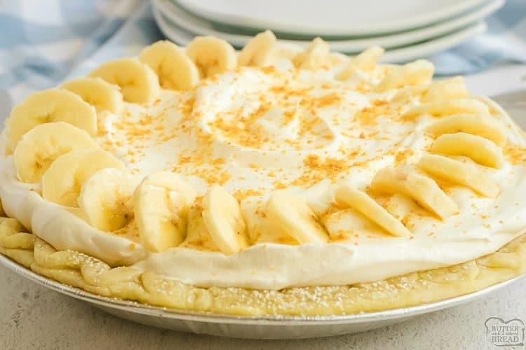Homemade Banana Cream Pie recipe