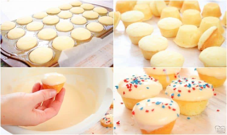 How to make Easy Vanilla Patriotic Cake Bites