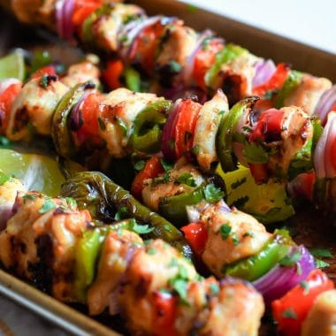 Fajita Chicken Kabobs recipe