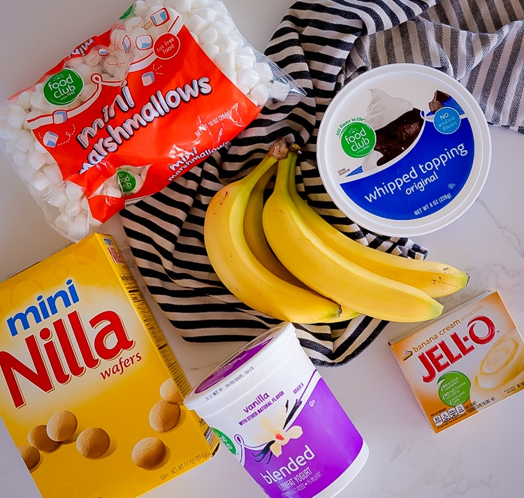 INGREDIENTS FOR Banana Cream Fluff Salad