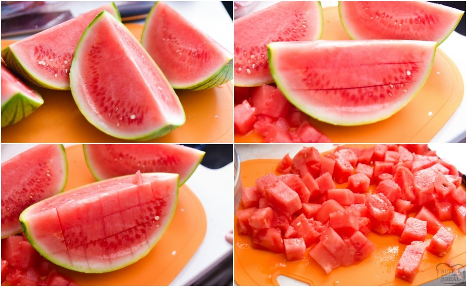 how to cube a watermelon