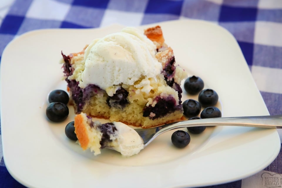 Buttery Blueberry Snack Cake