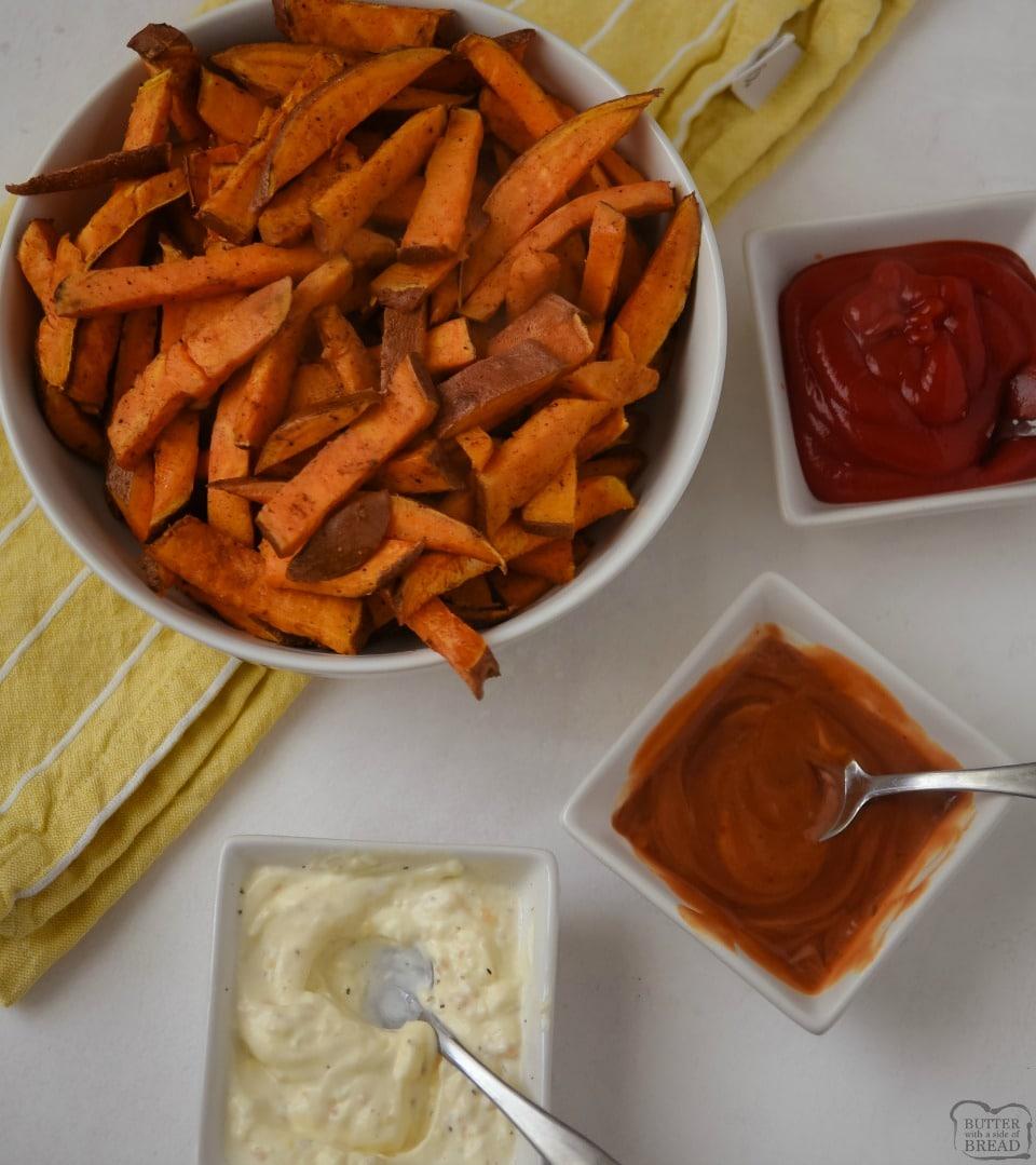 Easy Baked Sweet Potato Fries recipe