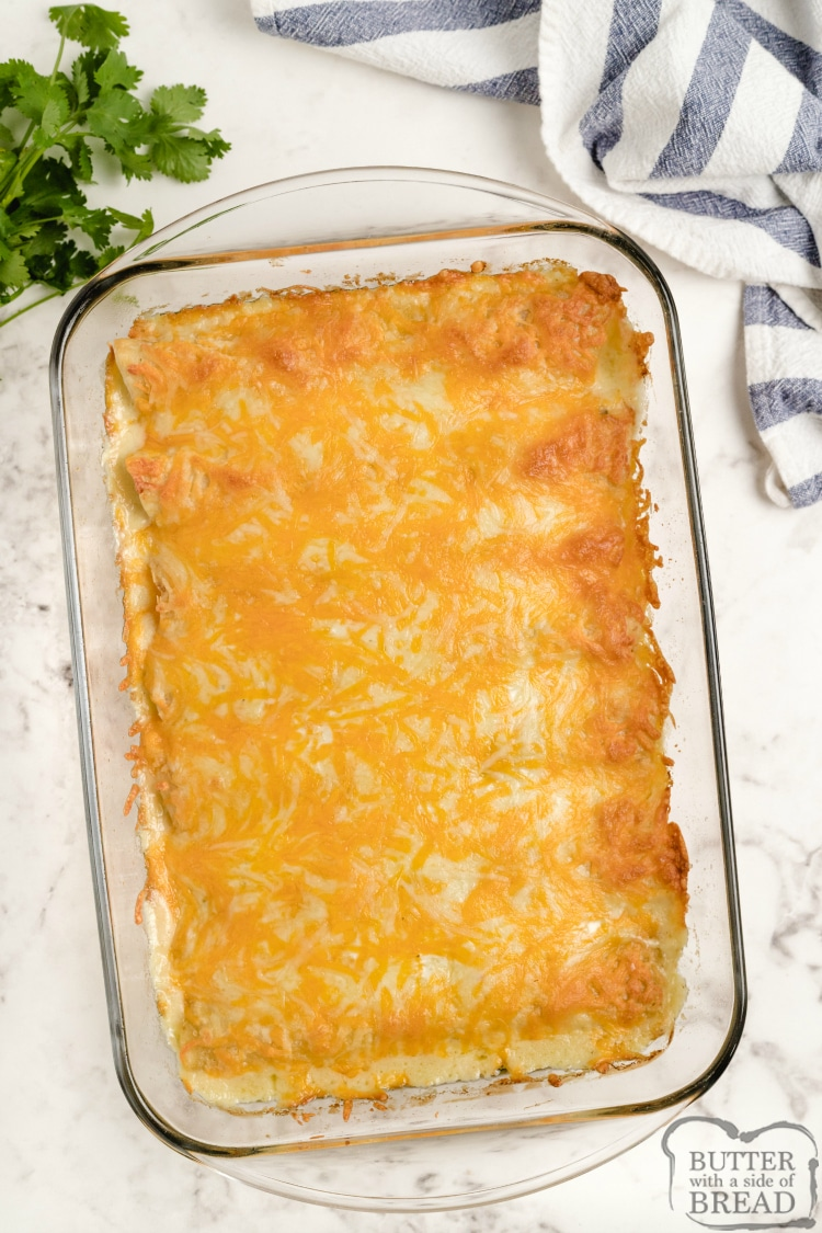 Simple chicken enchilada recipe with ranch dressing and bacon