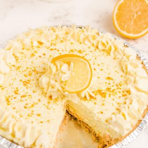Simple, no-bake Lemon Chiffon Pie has a bright, fresh flavor and a light and creamy texture; plus it only takes 5 minutes to make & is ready to serve in 30!