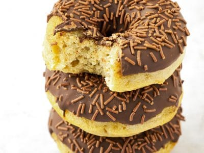 Easy Soft Baked Banana Donuts recipe