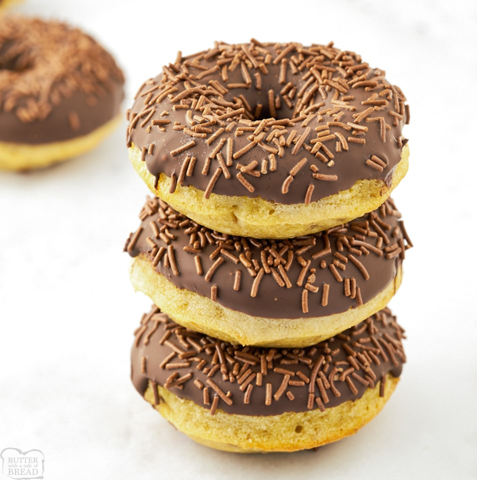 Easy Soft Baked Banana Donuts recipe