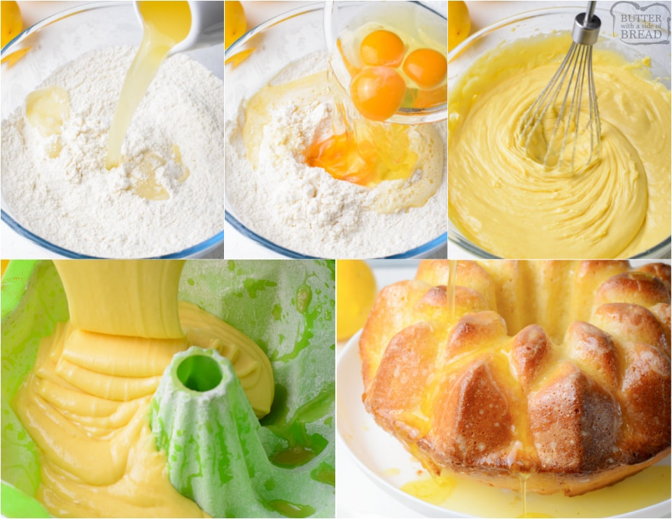 how to make a Lemon Pudding Bundt Cake recipe
