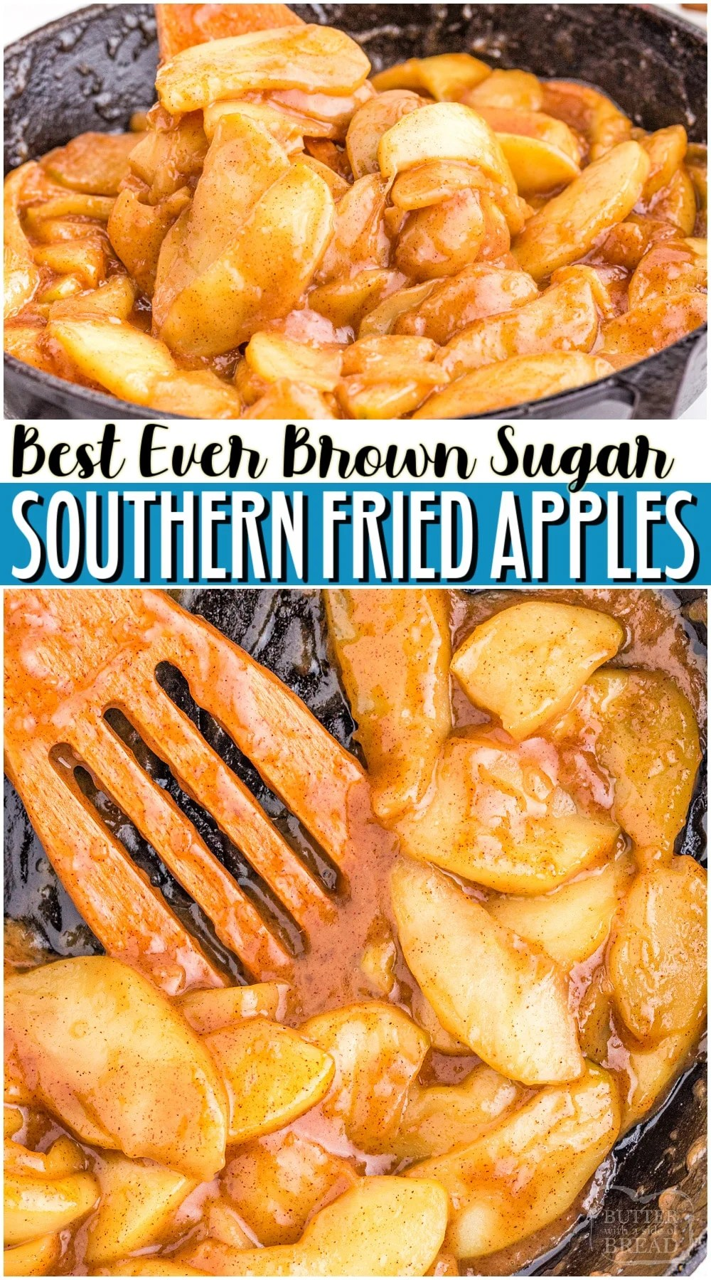 BROWN SUGAR Fried Apples made easy with crisp, fresh apples, butter, cinnamon & brown sugar! Favorite sweet southern fried apples served alongside dinner or with dessert. Perfect with a big scoop of vanilla ice cream.