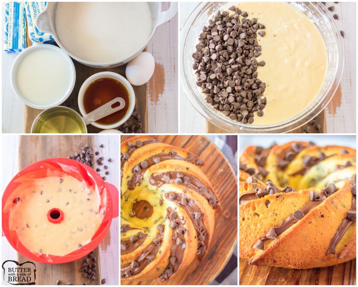 how to make a chocolate chip bundt cake