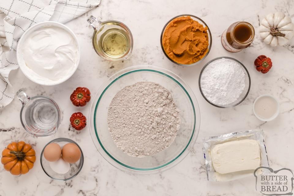 Ingredients in Caramel Pumpkin Poke Cake