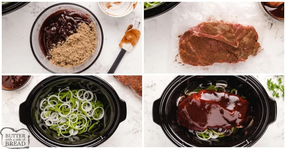 Step by step instructions on how to make Slow Cooker BBQ Pulled Pork