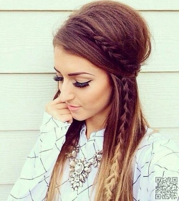 40 Cute and Girly Hairstyles with Braids Cute and Girly Hairstyles with Braids    36