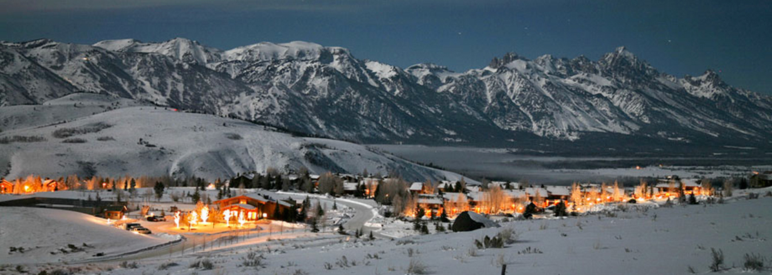 Winter Grand Tetons Wyoming