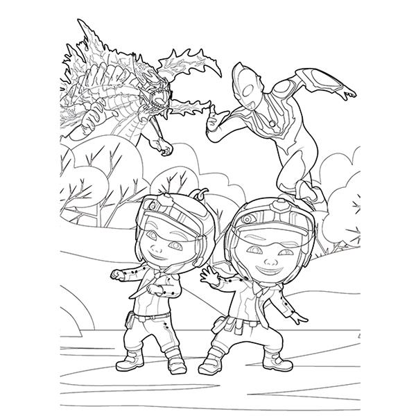 Upin Ipin Free Colouring Pages