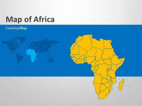 Africa   Editable Powerpoint Map Slides  authorSTREAM