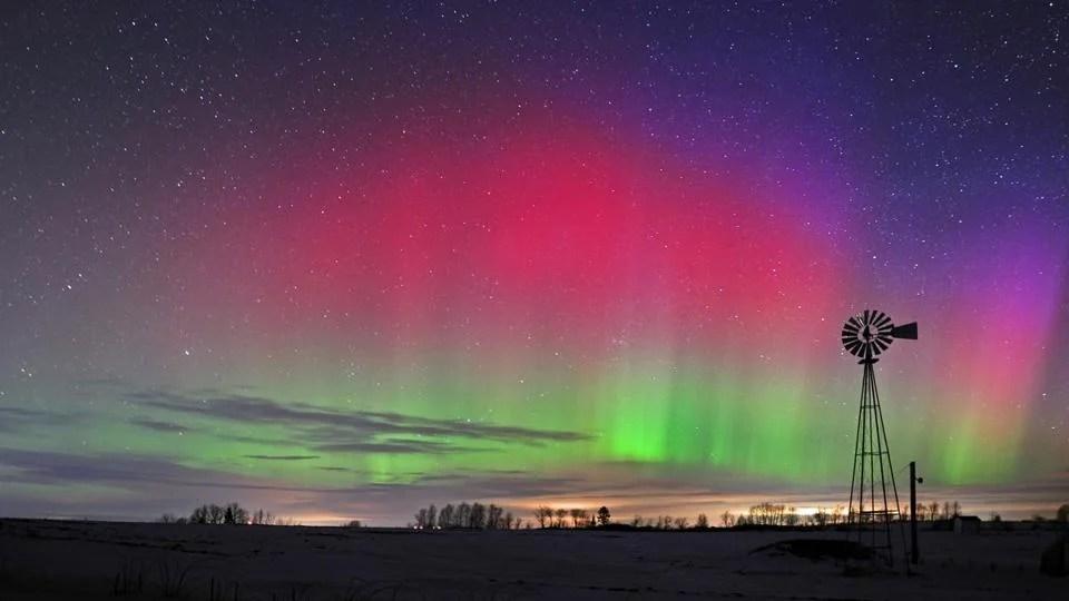 Boston Globe Northern Lights