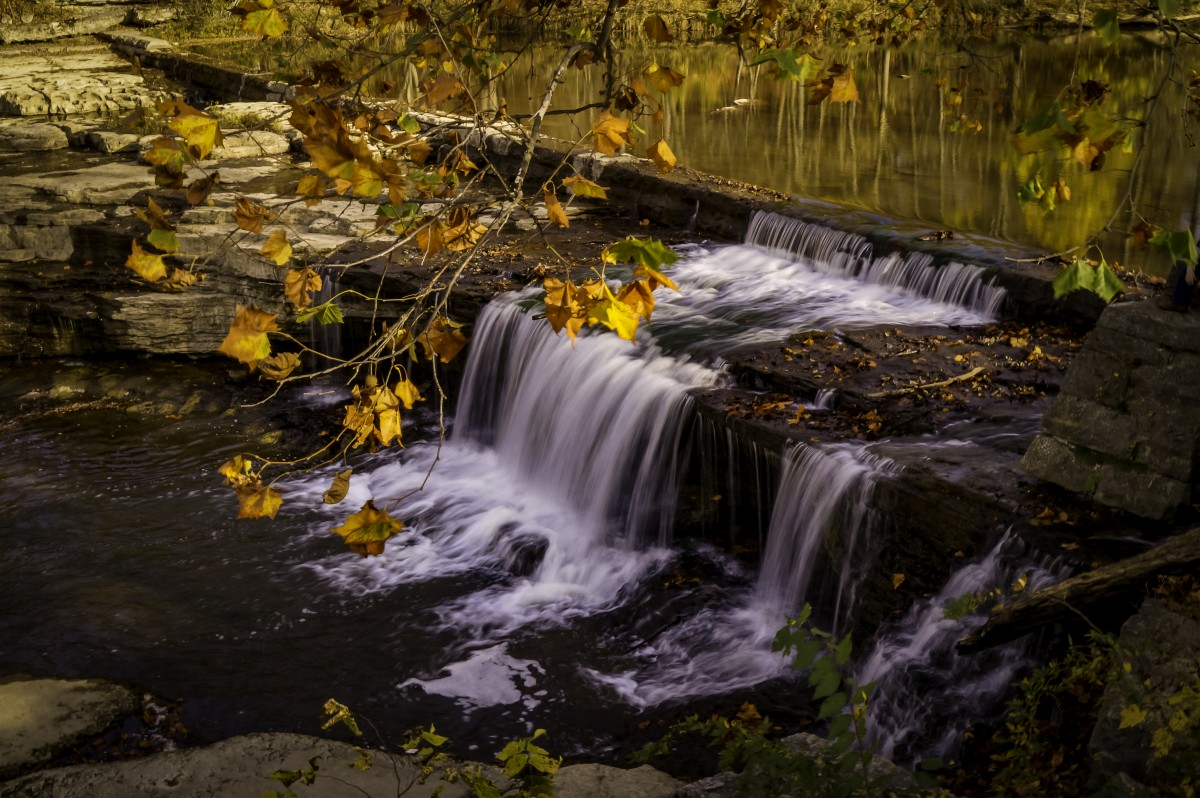 Free Images Water Fall Autumn River Waterfall Body