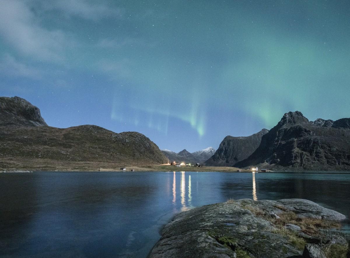 Mountains Northern Lights