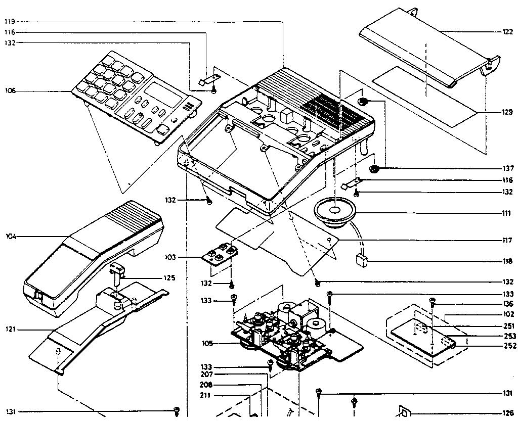Phonemate model 8050 9550 telephone equipment genuine parts