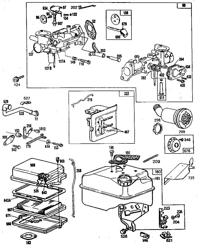 Briggs stratton 5 h p chipper shredder parts model