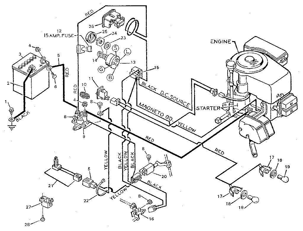 Craftsman riding lawn mower lt1000 wiring diagram wiring wiring diagram