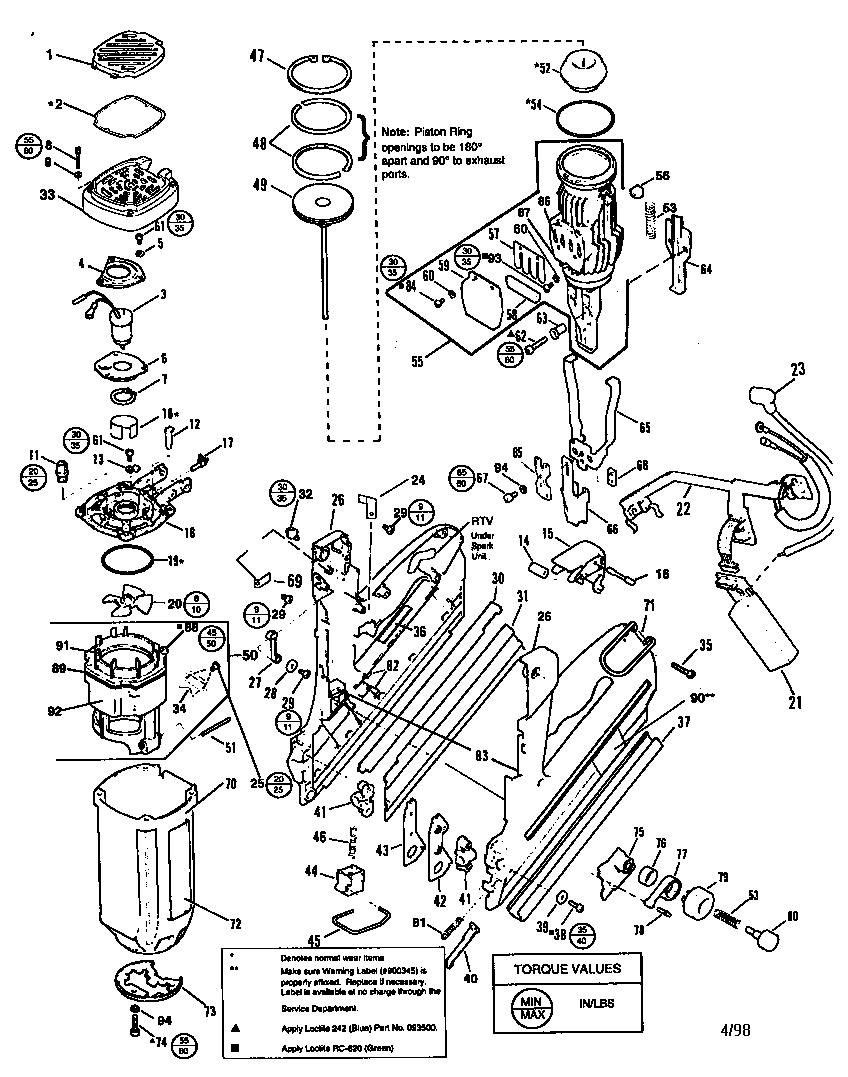 Paslode model ct325 nailer genuine parts rh searspartsdirect parts diagram ar15 lower reciever parts diagram